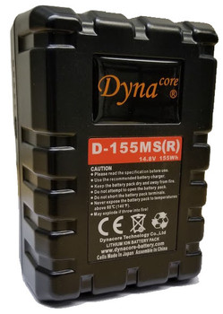 Dynacore D-155MS(R) 155Wh RUGGED V-Mount Li-Ion Mini Battery for RED & Other Cameras