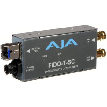 AJA FiDO-T-SC Single-Channel SC Fiber to 3G-SDI Mini Converter