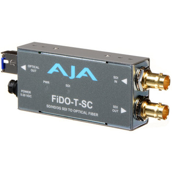 AJA FiDO-T-SC Single-Channel SC Fiber to 3G-SDI Mini Converter