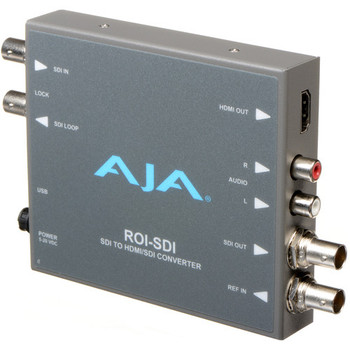 AJA ROI-SDI 3G-SDI to HDMI/3G-SDI Scan Converter with ROI Scaling