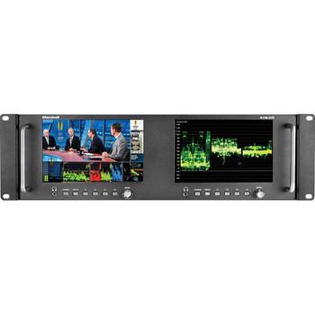 "Marshall Electronics M-LYNX-702W Dual 7"" Loop Through 3G-SDI Rackmount Monitor - DISCONTINUED"