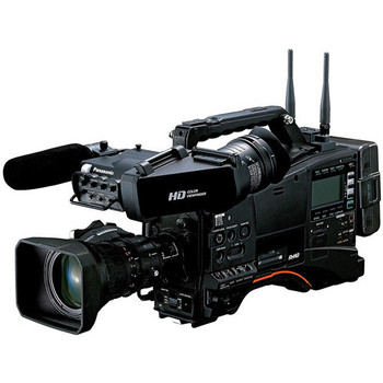Panasonic AJ-PX380 P2 HD Studio Camcorder Package, 16x Lens, Viewfinder and AG-BS300PJ Studio Base Station