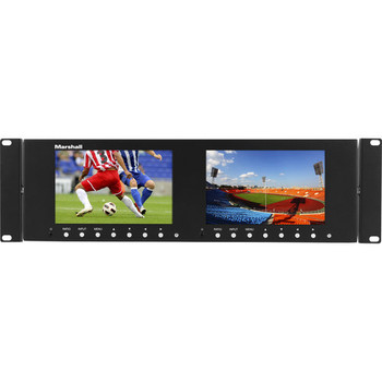 "Marshall Electronics M-LYNX-702 Dual 7"" 1280 x 800 Rackmount LCD Display - DISCONTINUED"