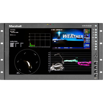 "Marshall Electronics V-R173-DLW 17.3"" Rack Mount Dual Link/Waveform Monitor"