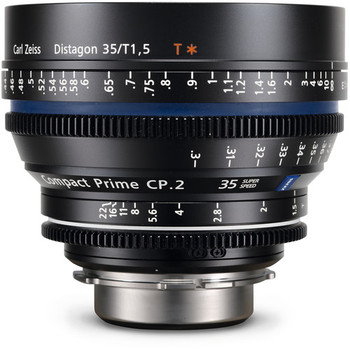 ZEISS 1916-640 Compact Prime CP.2 35mm/T1.5 Super Speed PL Mount - DISCONTINUED
