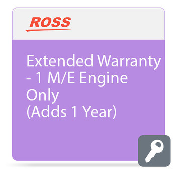 Ross Video Extended Warranty for CBF-109 Carbonite Black Solo Switcher Engine
