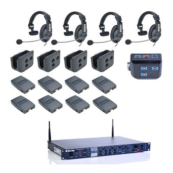 Clear-Com CZ11513 4-UP HME DX210 Intercom System