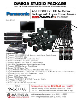 Panasonic AK-HC3800GSJ HD Multicam Package