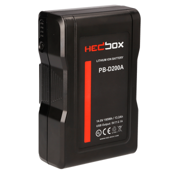 Hedbox D200A Pro Gold Mount Battery Pack 14.8V 195Wh with D-Tap & USB Output