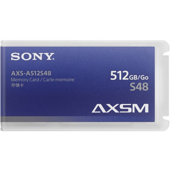 Sony AXS-A512S48 AXSM A Series 4.8 Gb/s Memory Card for AXS-R5 & R7 Camera Recorders (512GB, Black Trim)