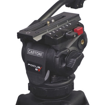 Cartoni KF08-3CS Focus 8 Fluid Head with Sliding Plate & Stabilo Carbon Fiber Tripod (75mm)