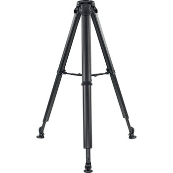 Vinten V4150-0003 Flowtech 75 Carbon Fiber Tripod with Mid-Level Spreader and Rubber Feet