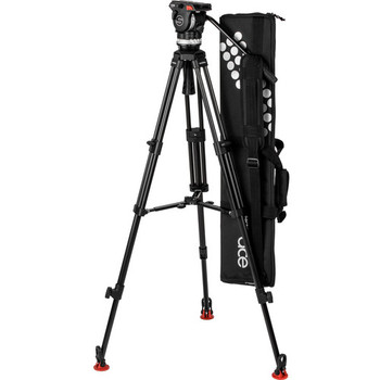 Sachtler 1018A System Ace XL MS AL with Fluid Head, Ace 75/2 D Tripod, Mid-Level Spreader & Bag