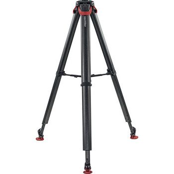 Sachtler 0495 System FSB 6 Fluid Head with Sideload Plate, Flowtech 75 Carbon Fiber Tripod with Mid-Level Spreader and Rubber Feet