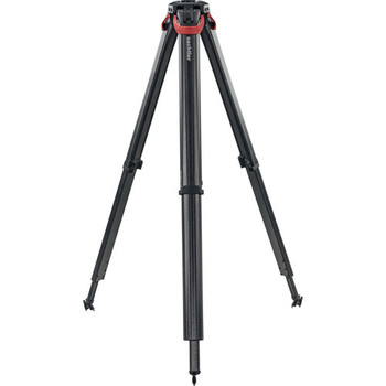 Sachtler 4585 Flowtech 75 MS Carbon Fiber Tripod with Mid-Level Spreader and Rubber Feet