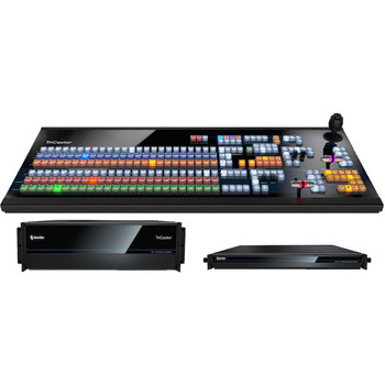 NewTek TC1MAXBDL TriCaster TC1 MAX Plus Solution (includes TriCaster TC1 3RU, NC1 I/O, and 2 Stripe (2 M/E) IP Series Large Control Panel