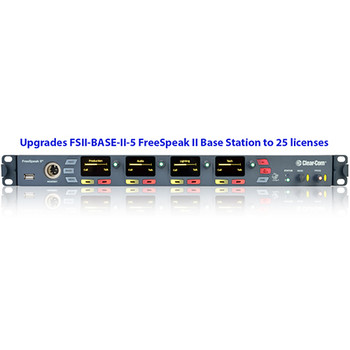 Clear-Com Upgrades FSII-BASE-II-5 to 25 Belt Pack Licenses