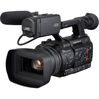 "JVC GY-HC500U Handheld Connected Cam 1"" 4K Professional Camcorder with Integrated Lens"