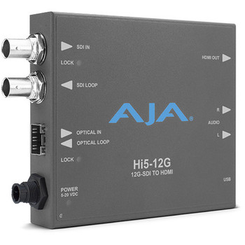AJA HI5-12G-R 12G-SDI to HDMI 2.0 Mini-Converter with Fiber LC Receiver