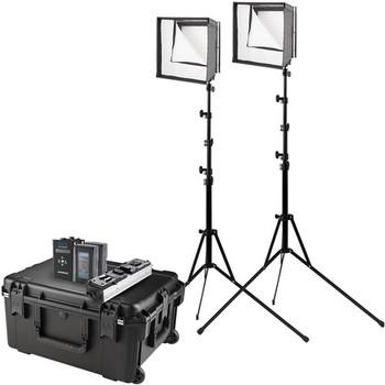Westcott 7657 Flex Cine Bi-Color LED 2-Light Travel Kit (US/CA Plug, 1' x 1')