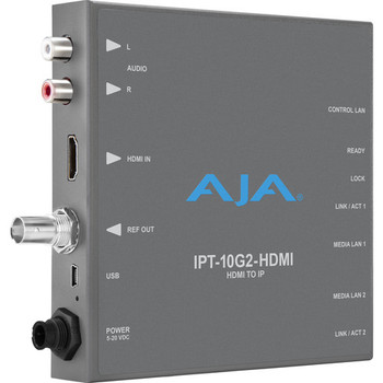 AJA IPT-10G2-HDMI HDMI to SMPTE ST 2110 Video & Audio Converter