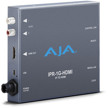 AJA IPR-1G-HDMI JPEG 2000 IP Video & Audio to HDMI Converter