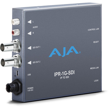 AJA IPR-1G-SDI JPEG 2000 IP Video & Audio to 3G-SDI Converter