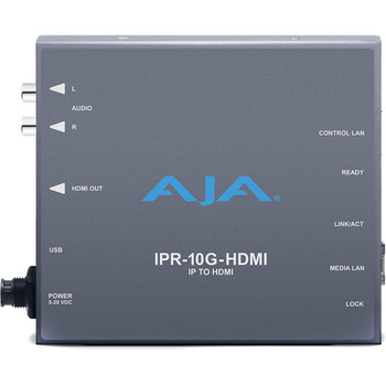 AJA IPR-10G-HDMI SMPTE ST 2110 IP Video and Audio to HDMI Converter