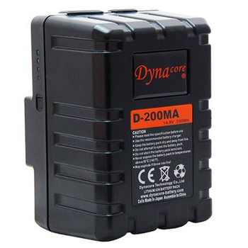 Dynacore D-200MA RUGGED Compact Low Profile Gold Mount Li-ion Battery, (14.4V, 200Wh)
