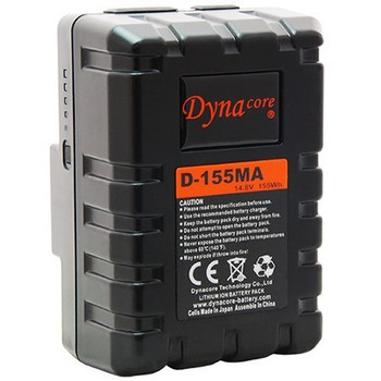 Dynacore D-155MA RUGGED Compact Low Profile Gold Mount Li-ion Battery, (14.4V, 155Wh)