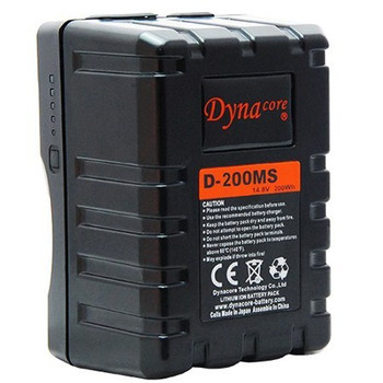 Dynacore D-200MS RUGGED Compact Low Profile V-Mount Li-ion Battery, (14.4V, 200Wh)