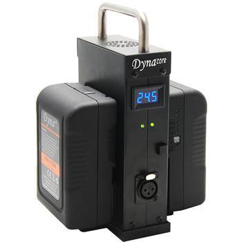 Dynacore D-2BS-24 24.5VDC 10A Portable Power Station for Two V-Mount Batteries with LED Display