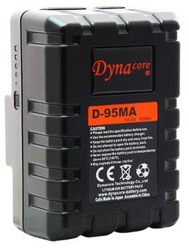 Dynacore D-95MA RUGGED Compact Low Profile Gold Mount Li-ion Battery, (14.4V, 95Wh)