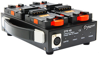 Dynacore DTS-4S 1-Sided Low Profile Quad Simultaneous Charger for DPM Mini Series Batteries* and Power Supply
