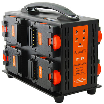 Dynacore DT-8S Portable 2-sided 8 Channel Simultaneous DPM Mini Series* Charger and Power Supply