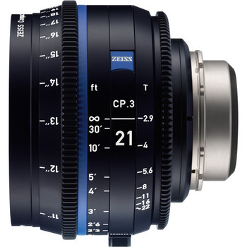 Zeiss 2183-067 CP.3 21mm T2.9 Compact Prime Lens (Canon EF Mount, Feet)
