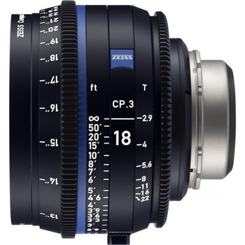 Zeiss 2186-840 CP.3 18mm T2.9 Compact Prime Lens (Canon EF Mount, Feet)