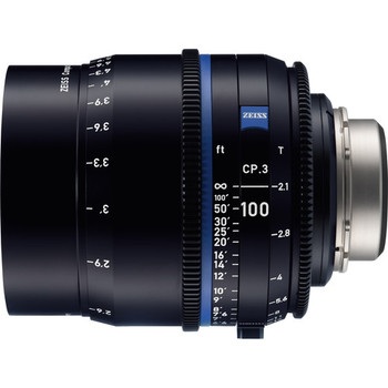 Zeiss 2185-146 CP.3 100mm T2.1 Compact Prime Lens (PL Mount, Feet)