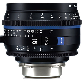 Zeiss 2189-453 CP.3 15mm T2.9 Compact Prime Lens (Canon EF Mount, Feet)