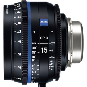 Zeiss 2189-452 CP.3 15mm T2.9 Compact Prime Lens (PL Mount, Feet)