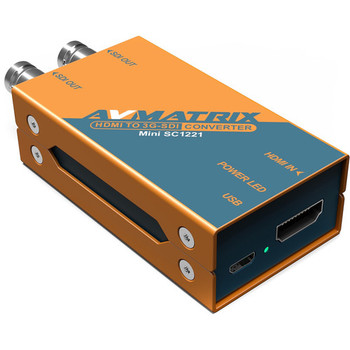 AVMatrix SC1221 Mini HDMI to Dual 3G-SDI Pocket-Size Broadcast Converter