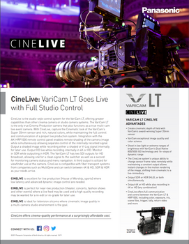Panasonic VariCam LT Live Cinema Complete Studio Package with Remote Paint Controller & 20x Lens