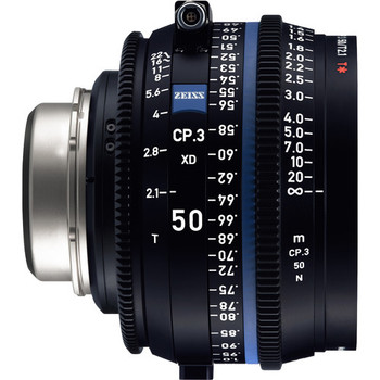 Zeiss 2177-121 CP.3 XD 50mm T2.1 Compact Prime Lens (PL Mount, Feet)