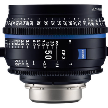 Zeiss 2177-328 CP.3 50mm T2.1 Compact Prime Lens (Canon EF Mount, Feet)
