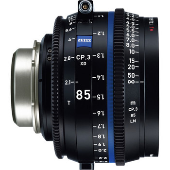 Zeiss 2178-028 CP.3 XD 85mm T2.1 Compact Prime Lens (PL Mount, Feet)