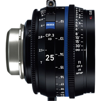 Zeiss 2181-383 CP.3 XD 25mm T2.1 Compact Prime Lens (PL Mount, Feet)