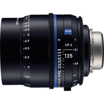 Zeiss 2184-951 CP.3 135mm T2.1 Compact Prime Lens (PL Mount, Feet)