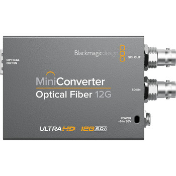 Blackmagic Design CONVMOF12G Mini Converter Optical Fiber 12G-SDI (requires SFP)
