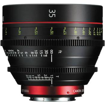Canon CN-E 35mm T1.5 L F Cinema Prime Lens (EF Mount)(9139B001)