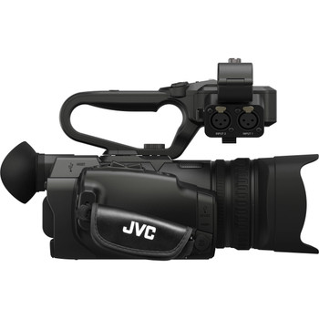 JVC UHD 4K Streaming Camcorder with Built-in Lower-Thirds Graphics (GY-HM250U)